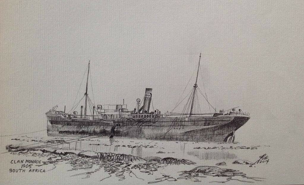 Another ~Turret~ ship, this time Clan Monroe, wrecked on the South African Coast in 1905.