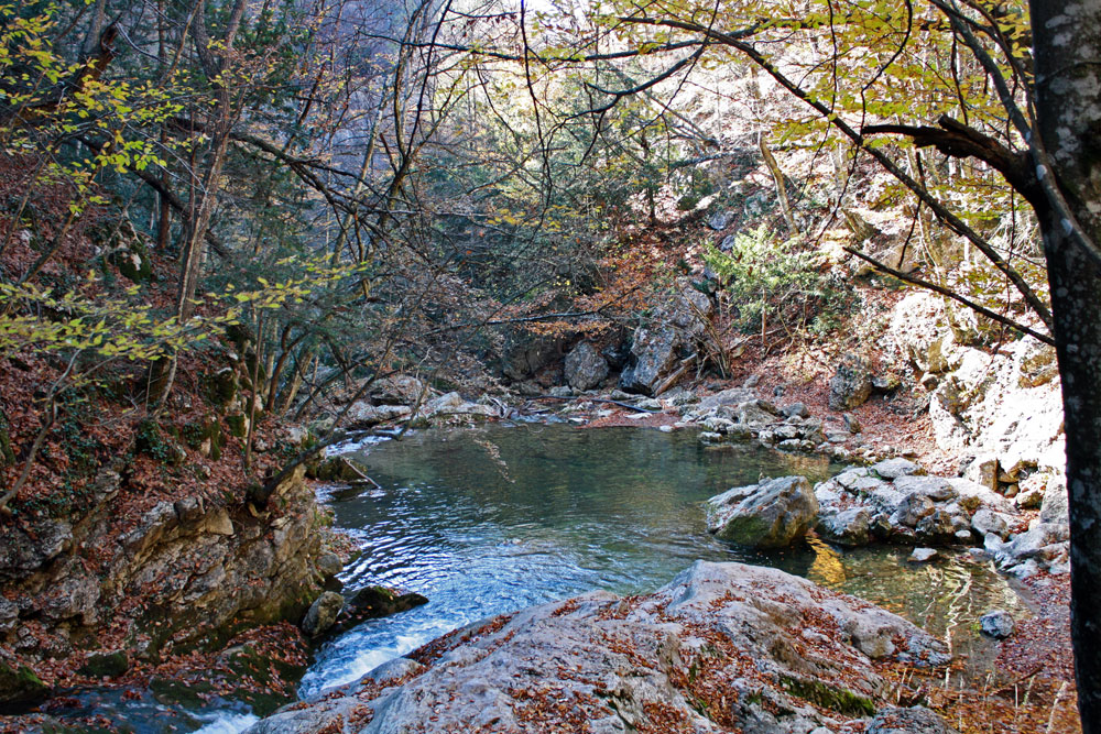 Осень в Большом каньоне Крыма