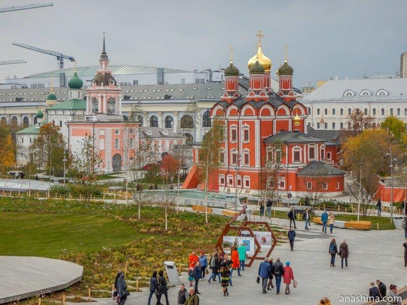 """Бывший Знаменский монастырь на Варварке, парк """"Зарядье"""", Москва"""