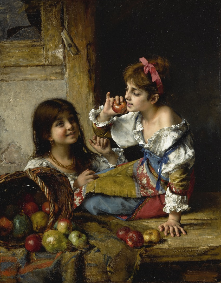 TWO GIRLS WITH APPLES AND PEARS, 1884.jpg
