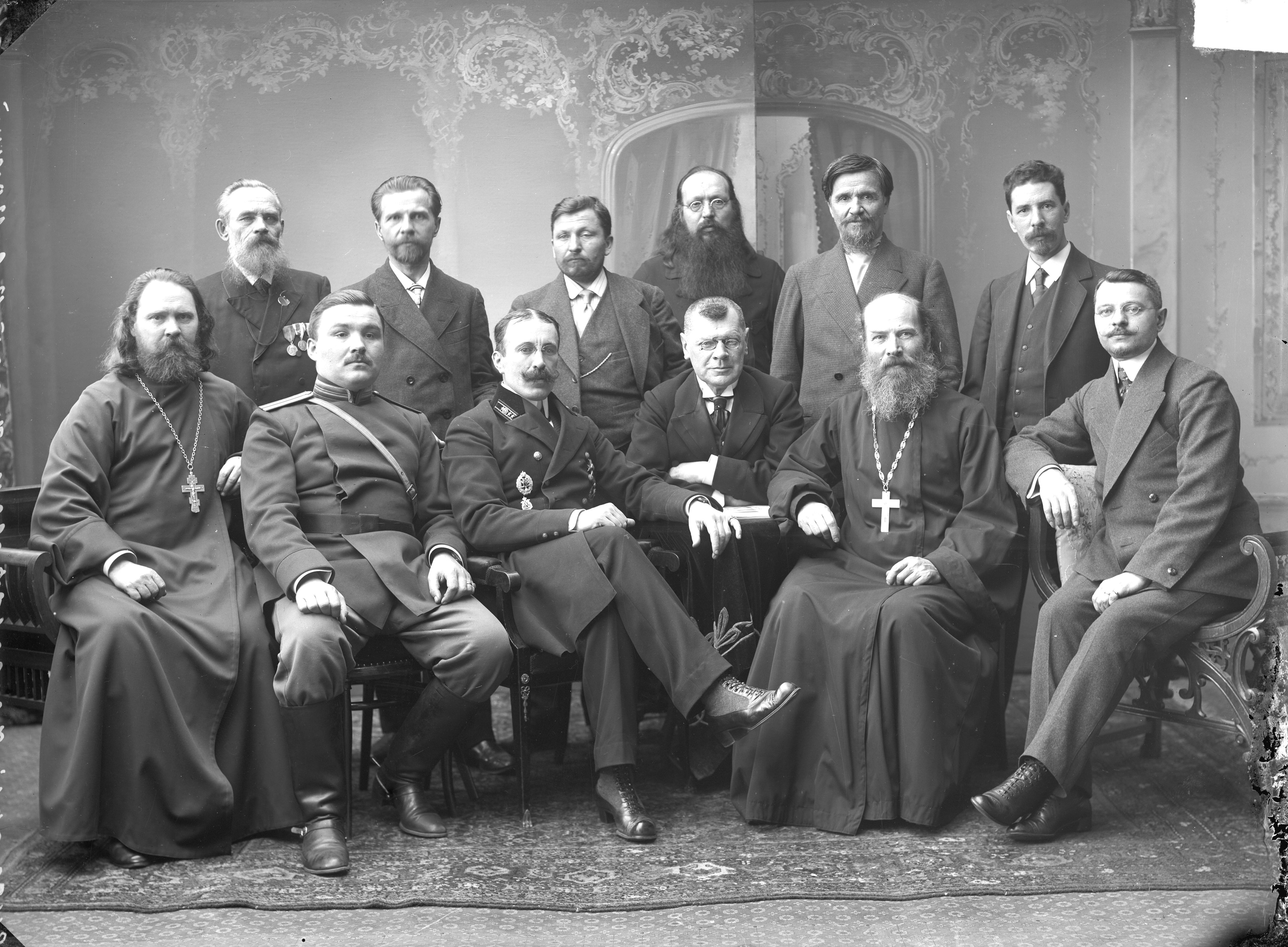 1896. Парад членов Гордеевского участкового комитета