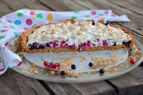 Песочный пирог с вареньем и безе рецепты пошагово
