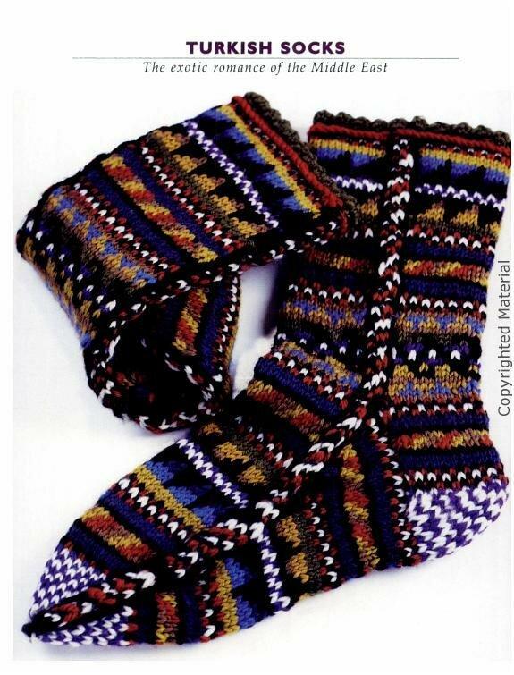 Жаккардовые носочки со схемами.
