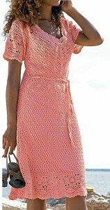 Розовые мечты Ассоль - платье крючком