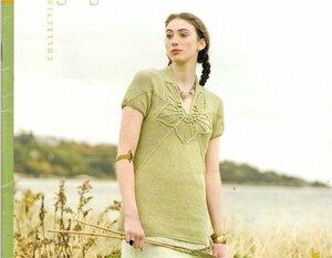 Зеленый цветок - лето на лужайке - топ Nora Gaughan