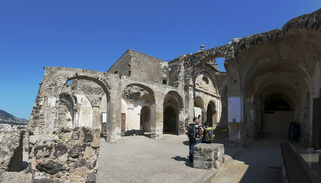 Ischia. Aragonese castle. Cathedral of the Assumption (Cattedrale Dell'assunta)