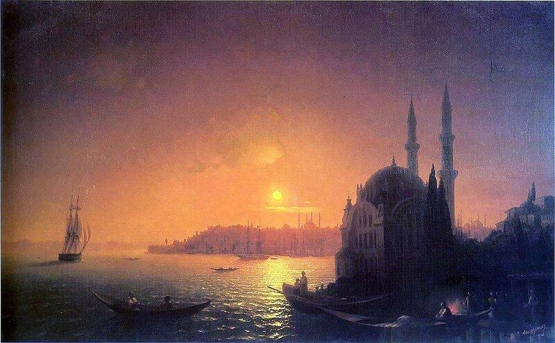 Айвазовский. Вид Константинополя при лунном освещении.jpg