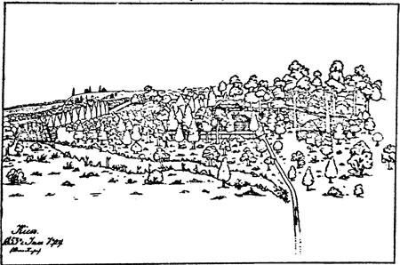 Имение Кристеров на Приорке. По рисунку середины XIX в.