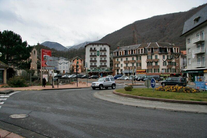 Центральная часть города Акс-ле-Терм