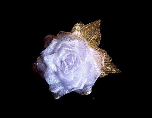 Роза_канзаши_белая