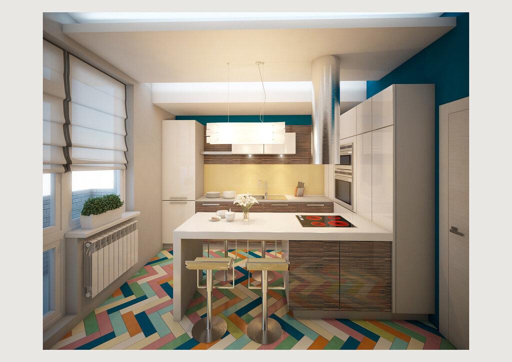 Плитка в интерьере кухни Четыре стены - блог о интерьере и д.