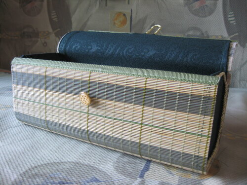 Шкатулка из бамбуковой салфетки