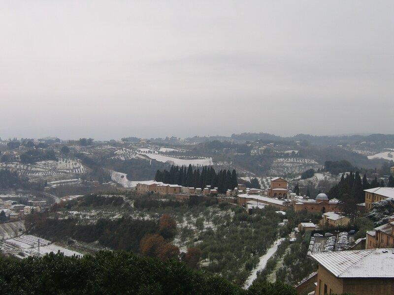 Тоскана в снегу