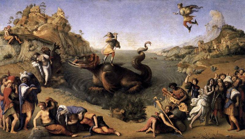 Персей освобождает Андромеду, Пьеро ди Козимо, ок. 1510 г.Флоренция, галерея Уффици