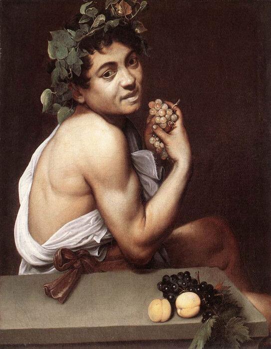 Караваджо, ок. 1593 г., Больной Вакх