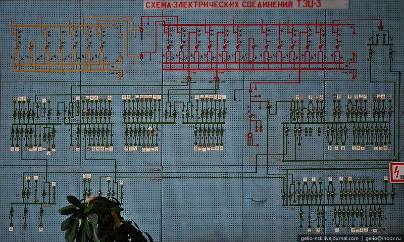 Схема электрических соединений ТЭЦ-3.