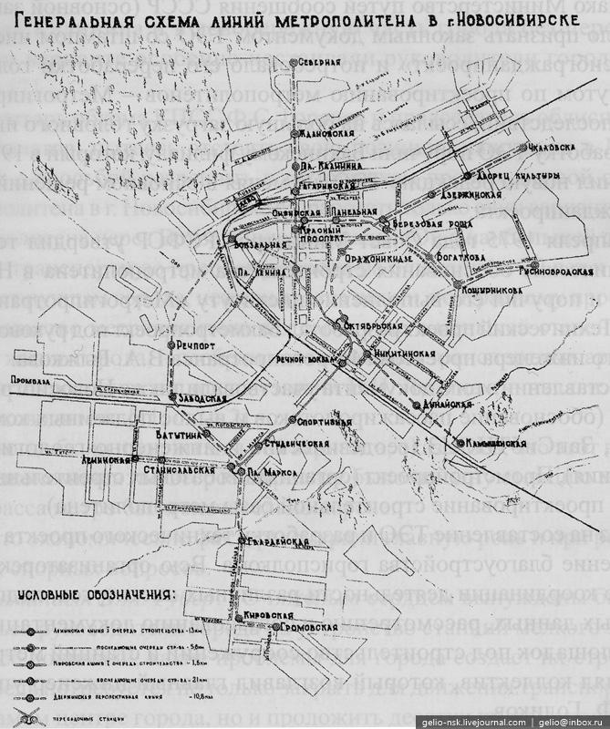 Генеральная схема линий.