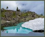 Подводный лёд на озере Гармония