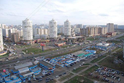 Москва. Марьино. Вид с 21 этажа. Раньше тут я жил
