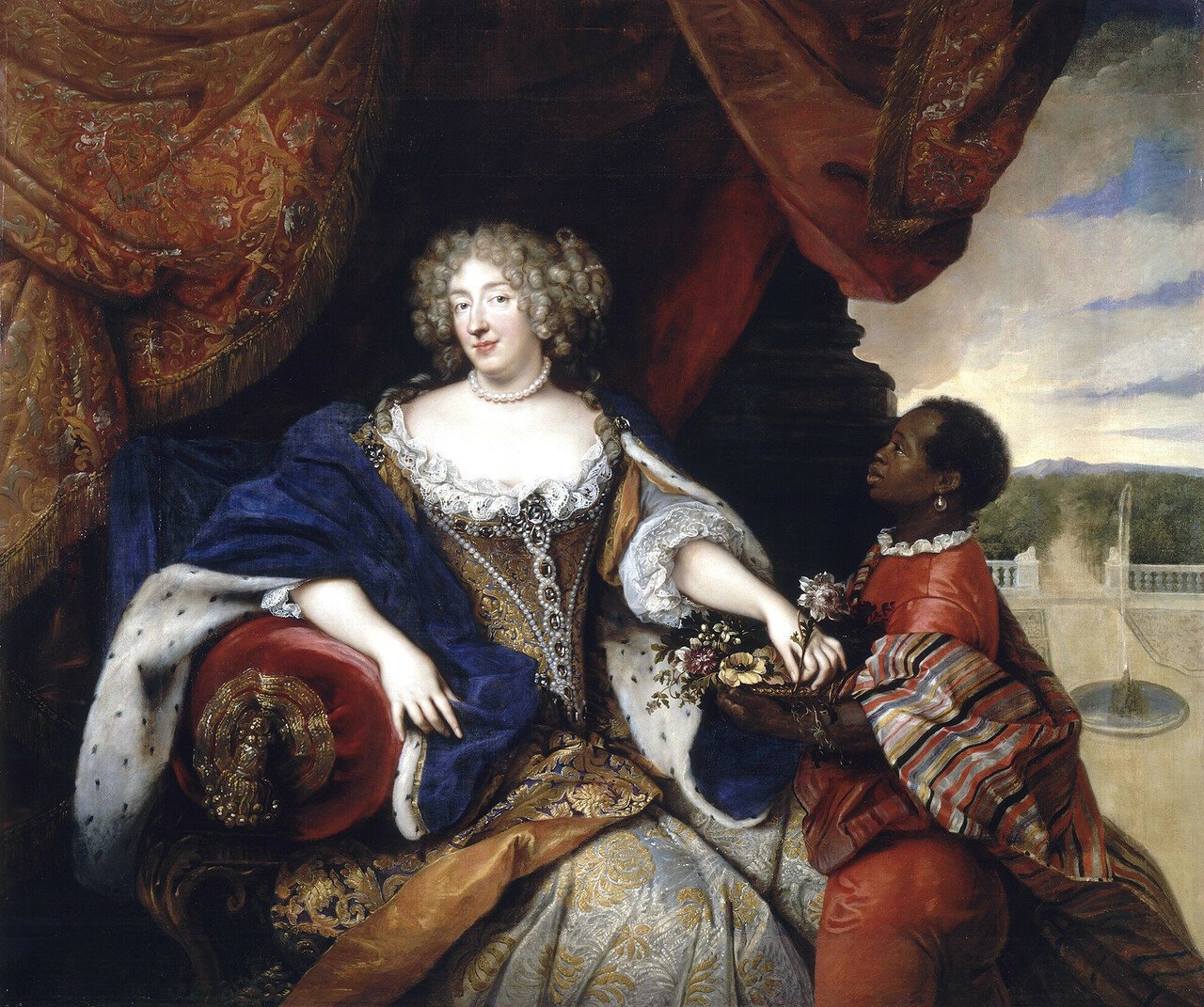 1680_portrait_of_the_Duchess_of_Orléans_(Elisabeth_Charlotte_of_the_Palatinate)_being_attended_to_by_a_slave_by_François_de_Troy.jpg