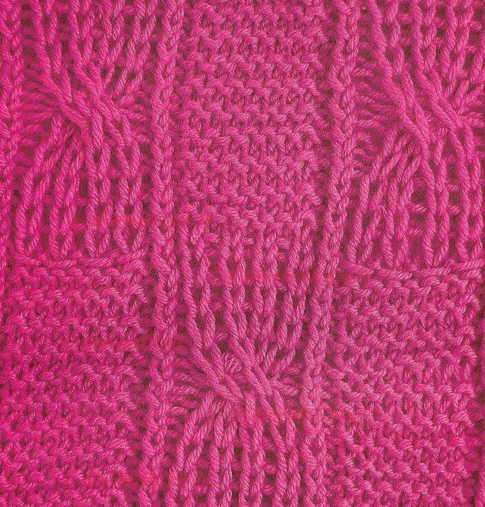 Вязание красивый узор для пледа крючком 255