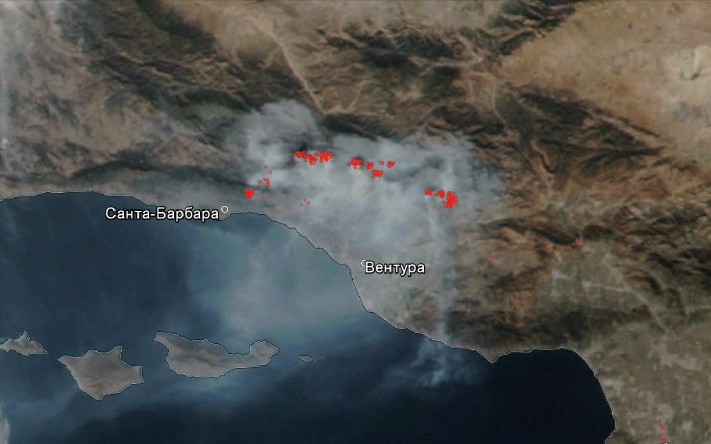 Пожар «Томас» вКалифорнии удалось локализовать наполовину