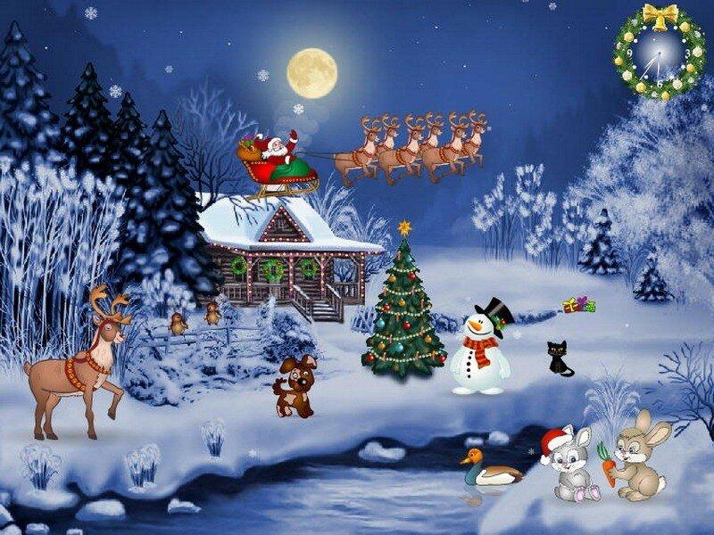 Animierte Weihnachtsbilder.Grüße Frohe Weihnachten Live Karten Für Jeden Urlaub