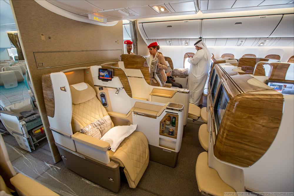 Во-вторых, Emirates немного обновила бизнес-класс.