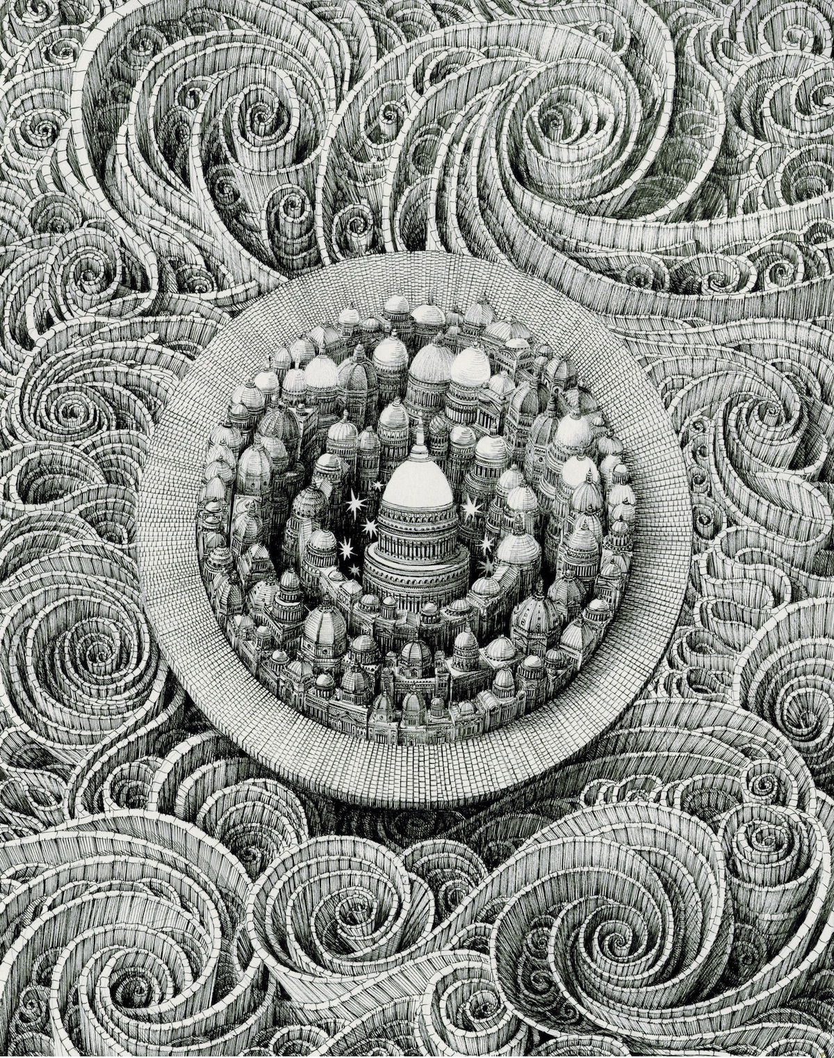 Ad Infinitum: Pen & Ink Drawings by Benjamin Sack Depict Infinite Cityscapes