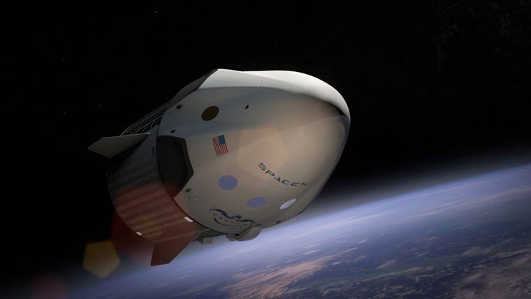 SpaceX unveils the futuristic interior of its Crew Dragon spaceship