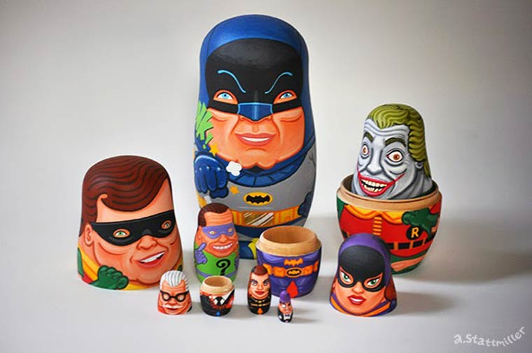Pop Culture – The awesome hand painted nesting dolls of Andy Stattmiller (24 pics)