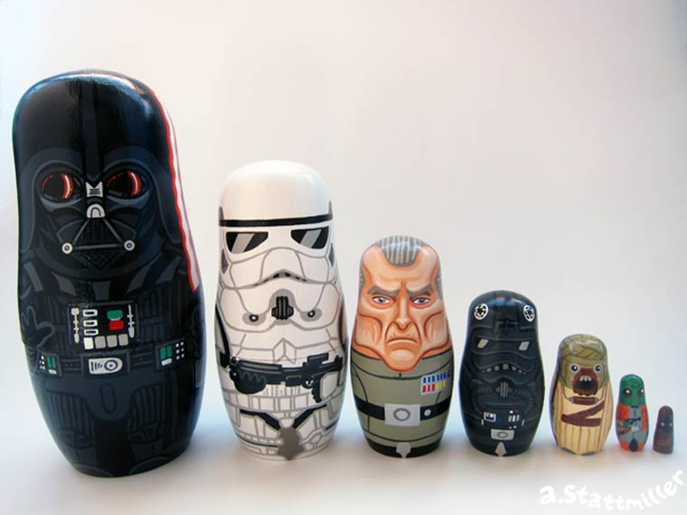 Pop Culture – The awesome hand painted nesting dolls of Andy Stattmiller