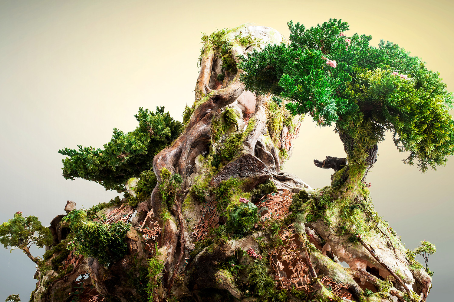 A Tree-Like Figure Composed of Natural and Technological Elements by Garret Kane