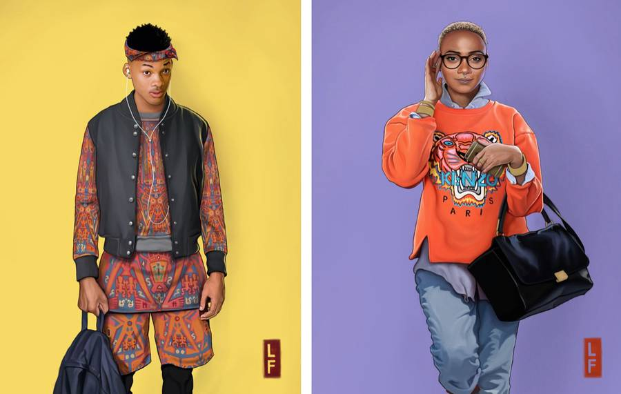 The Fresh Prince of Bel-Air Cast in 2015 Illustrations