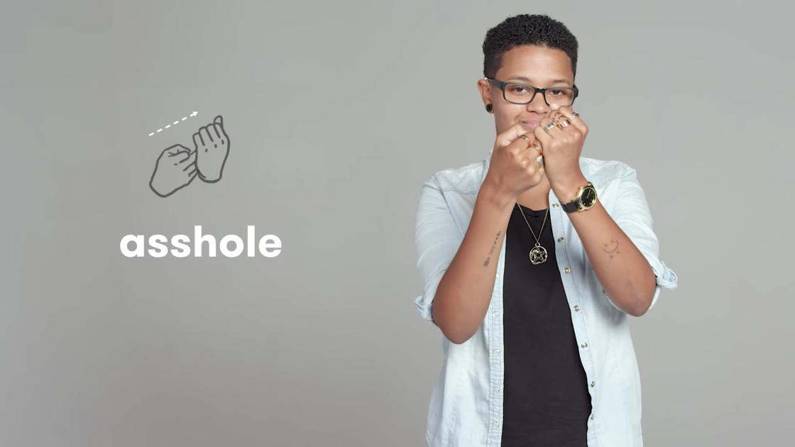 Learn the insults in sign language