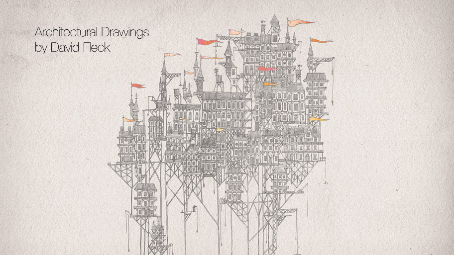 Architectural Drawings by David Fleck (12 pics)