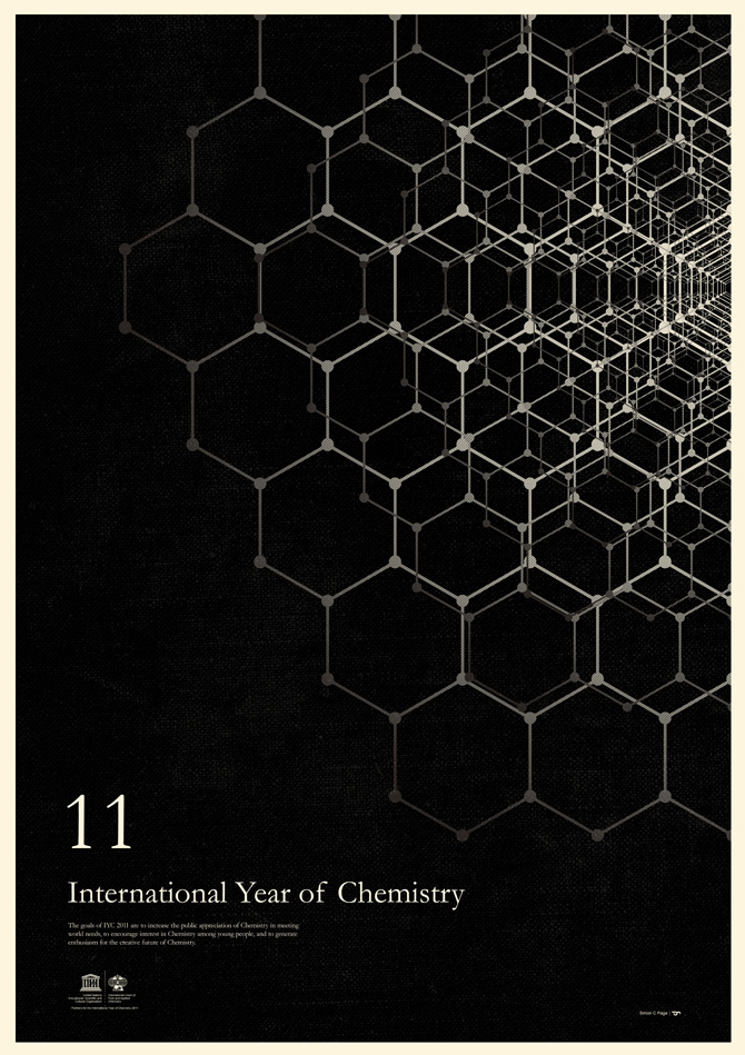 Minimalist Posters - Simon C. Page - International Year of Chemistry 2011