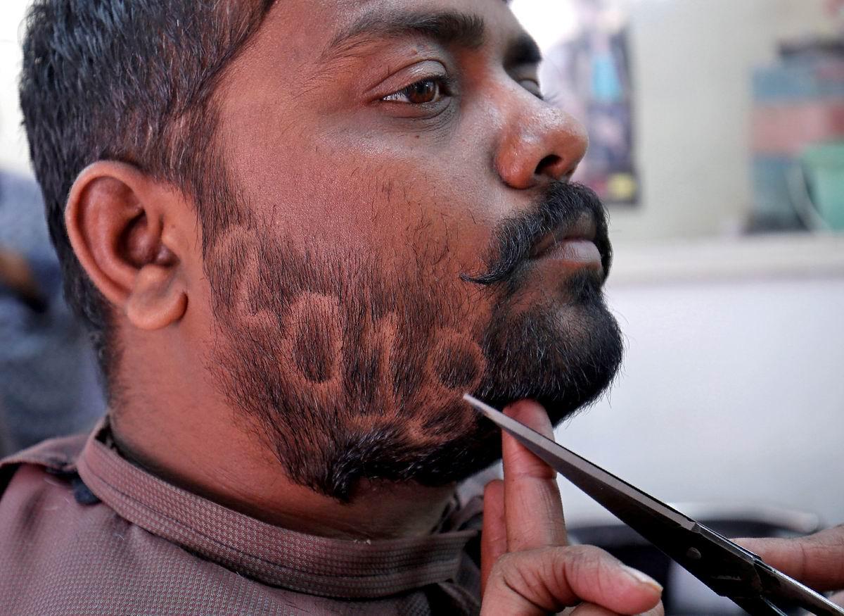 Подстриги меня, цирюльник: Новогодняя бородка