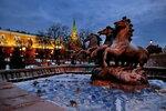 У зимнего фонтана