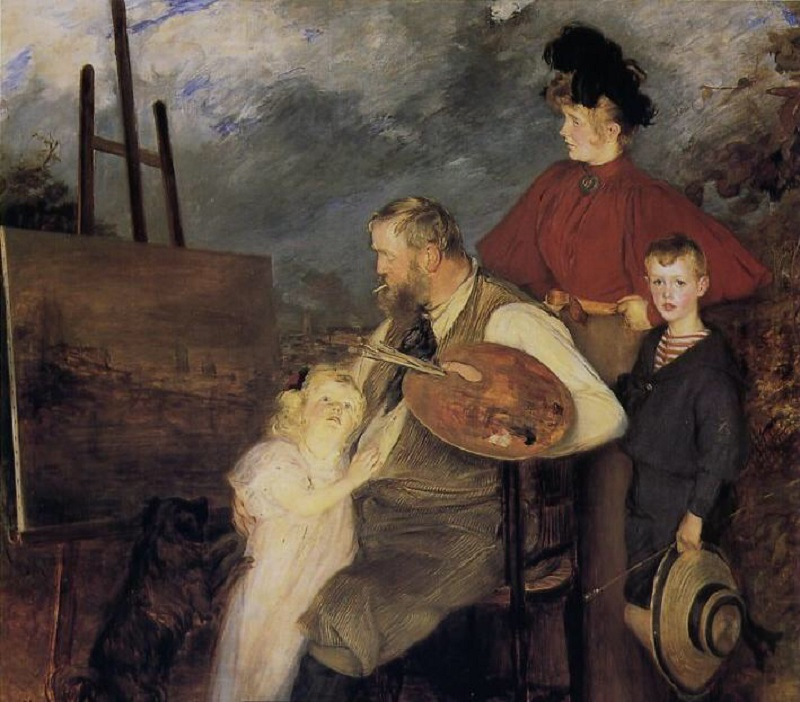 Jacques Émile Blanche, 1895 портрет художника с семьёй