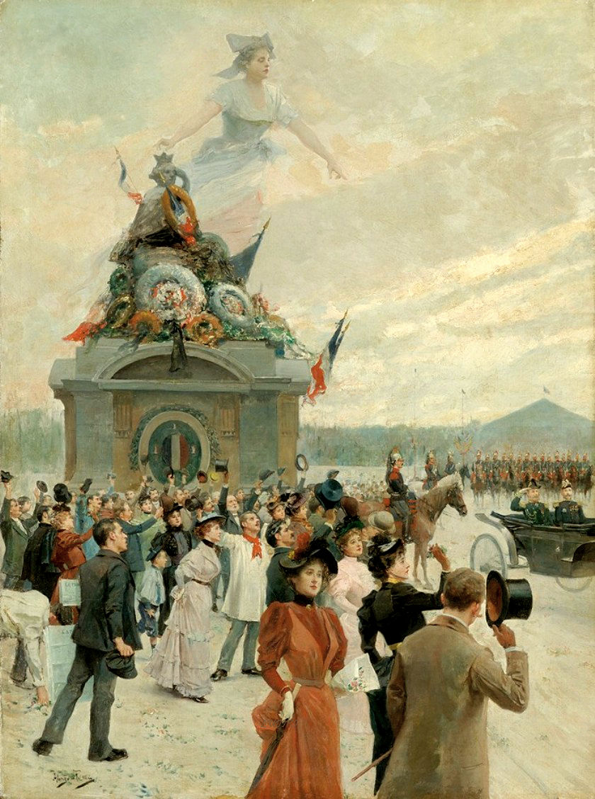 Allegorical View of a Bastille Day Parade.