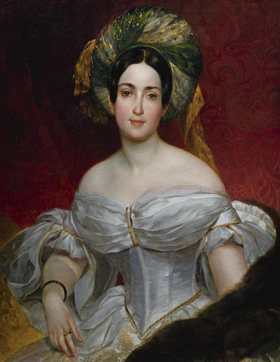 Портрет Авроры Шернваль-Демидовой. 1837. Коллекция Константиновского дворца