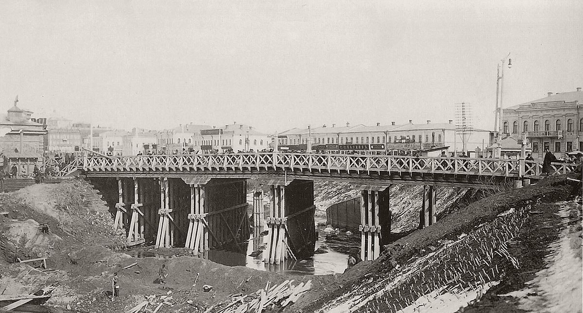 Строительство нового Базарного моста