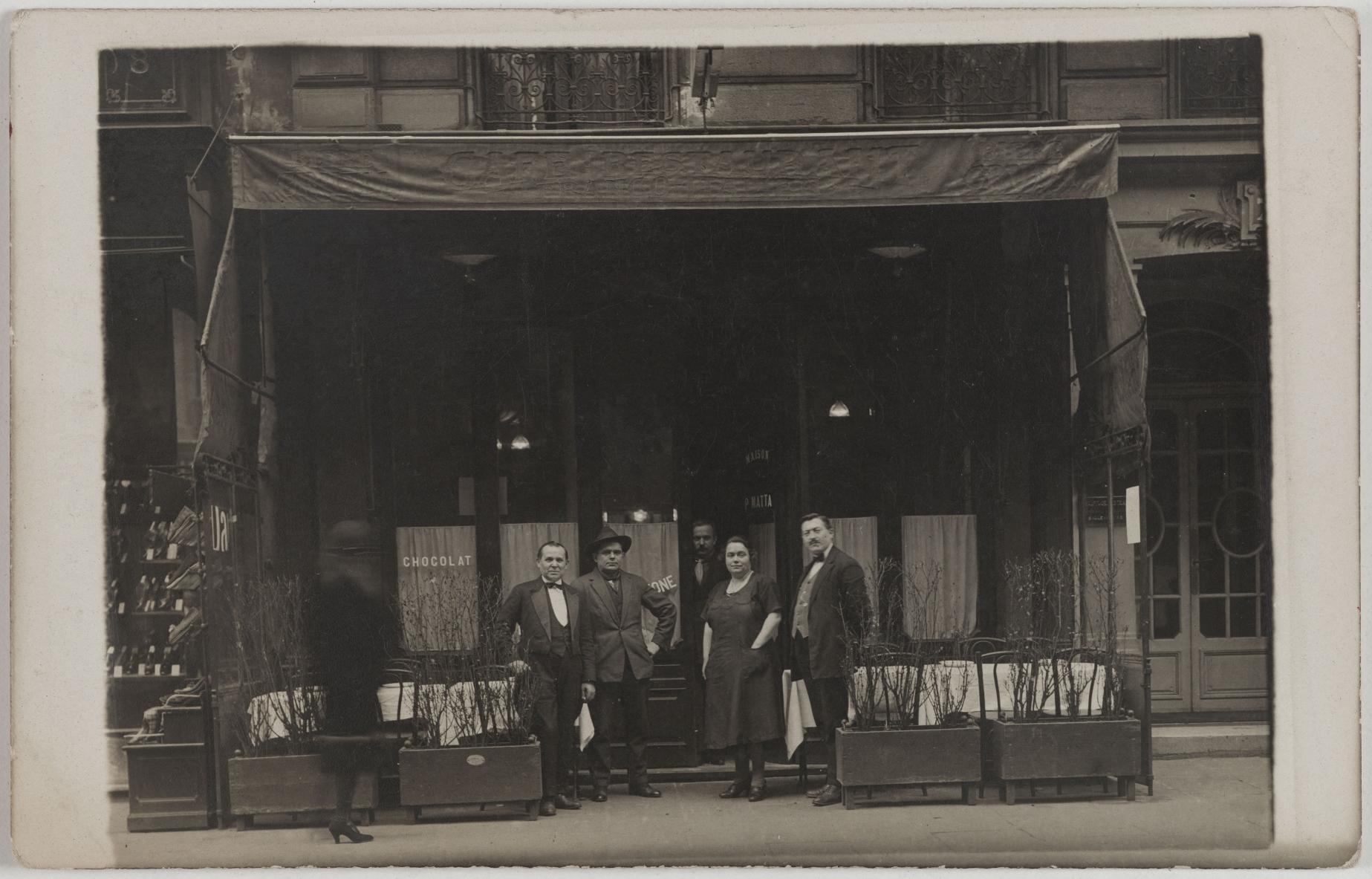 1927-1937. Кафе, ресторан. Дом П. Матта, 76, rue de Turbigo (3-й округ). Сейчас на этом месте ресторан Xing Long