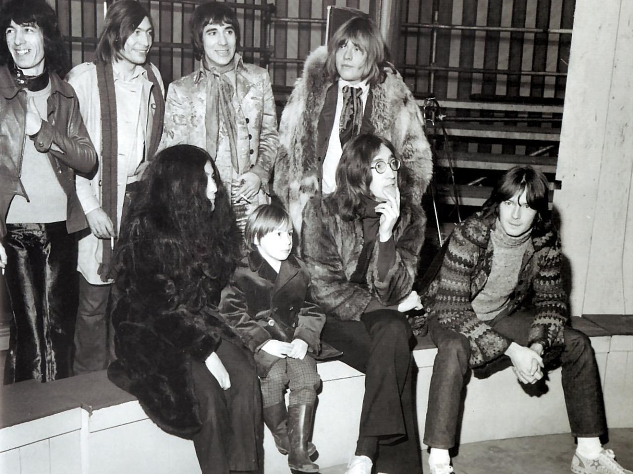 1968. Джон & Джулиан & Йоко, Эрик Клэптон, Кейт Мун & Стоунзы