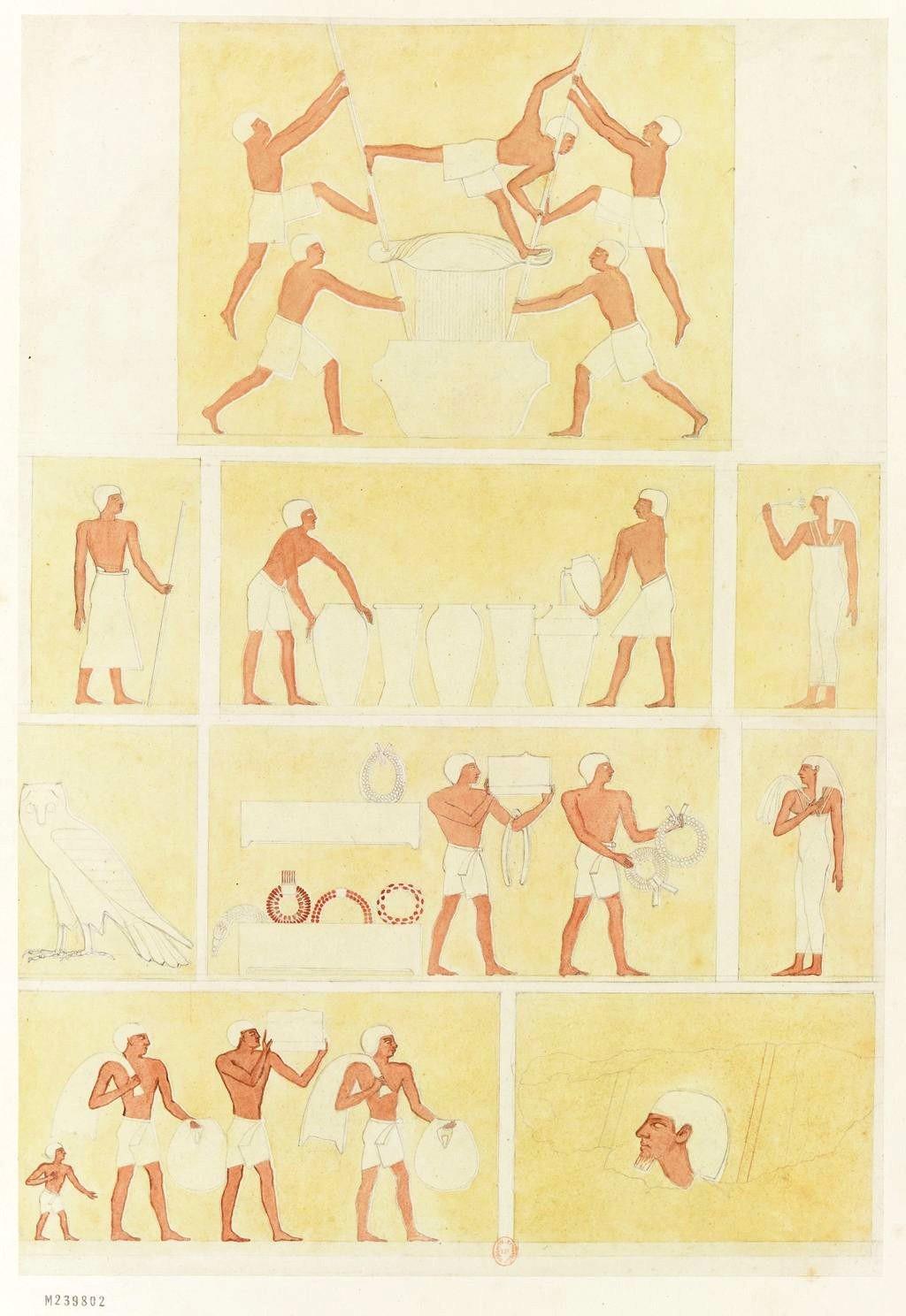 Пирамиды Гизы. Барельефы, украшающие гробницы к востоку от пирамиды Хефрена