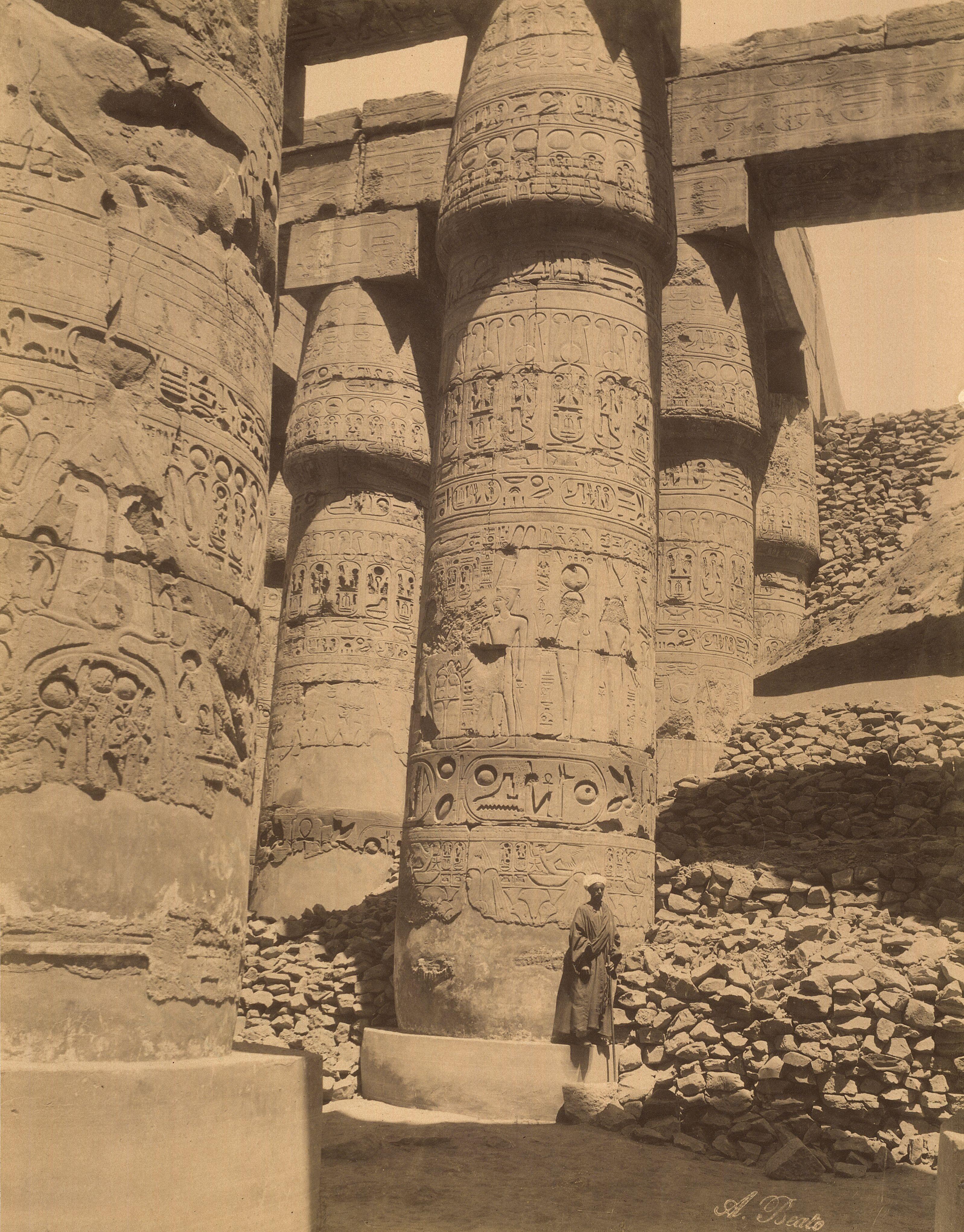 Карнак. Большой портик в храме Амон-Ра