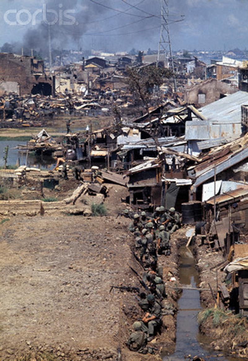 Американский опорный пункт во время второго наступления на Сайгон. Июнь