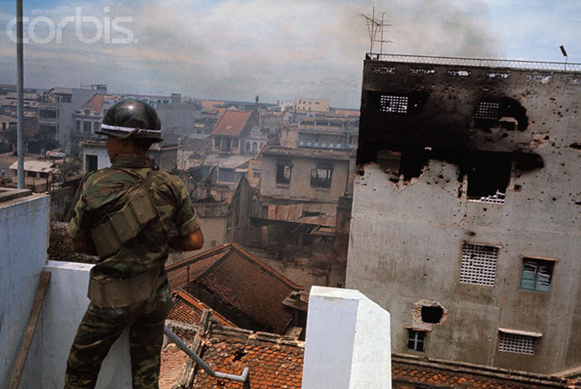 Разрушенный после боев с вьетконговцами район Тёлон. 8 июня