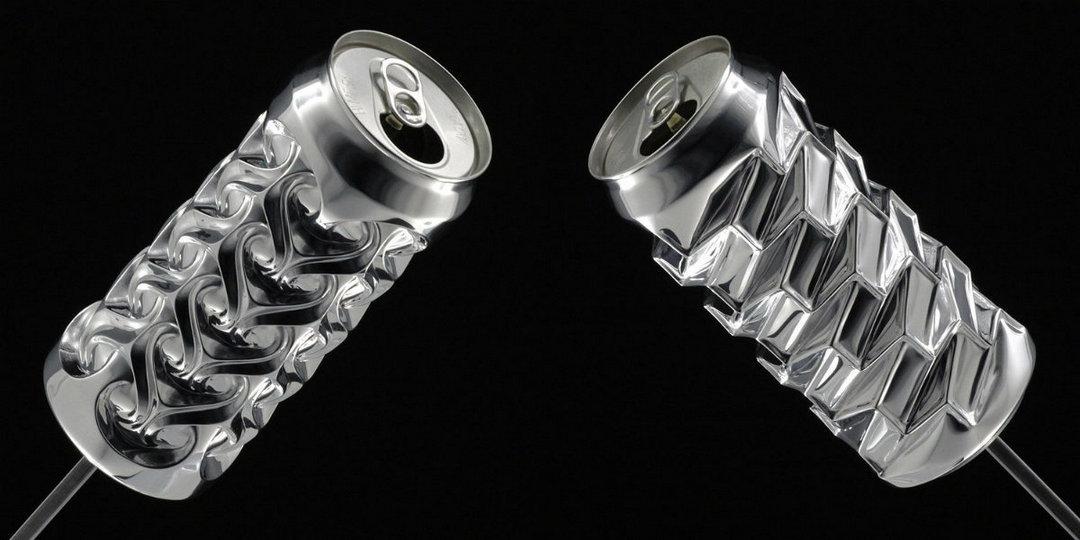 Гипнотические скульптуры из алюминиевых банок Ноа Деледда
